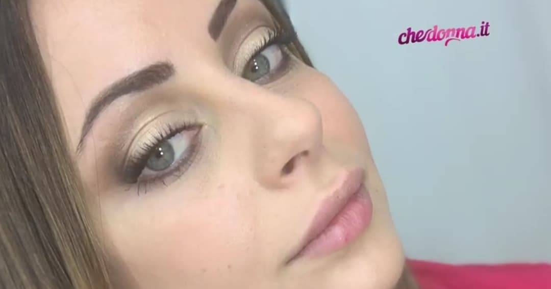 Trucco occhi palpebra chiara e luminosa Francesca Pagano