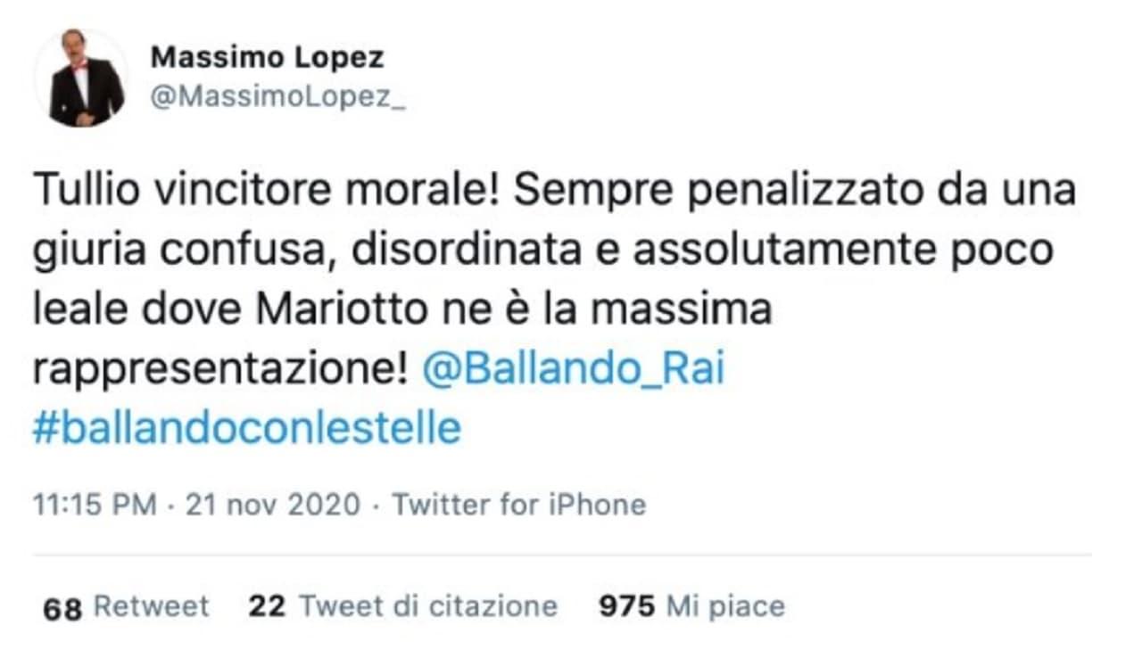 Tullio Solenghi eliminato a Ballando con le stelle: Massimo Loez sbrocca