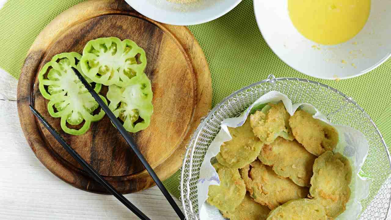 pomodori verdi fritti menù stile americano