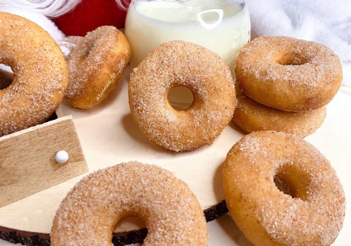 Mini soft cinnamon donut