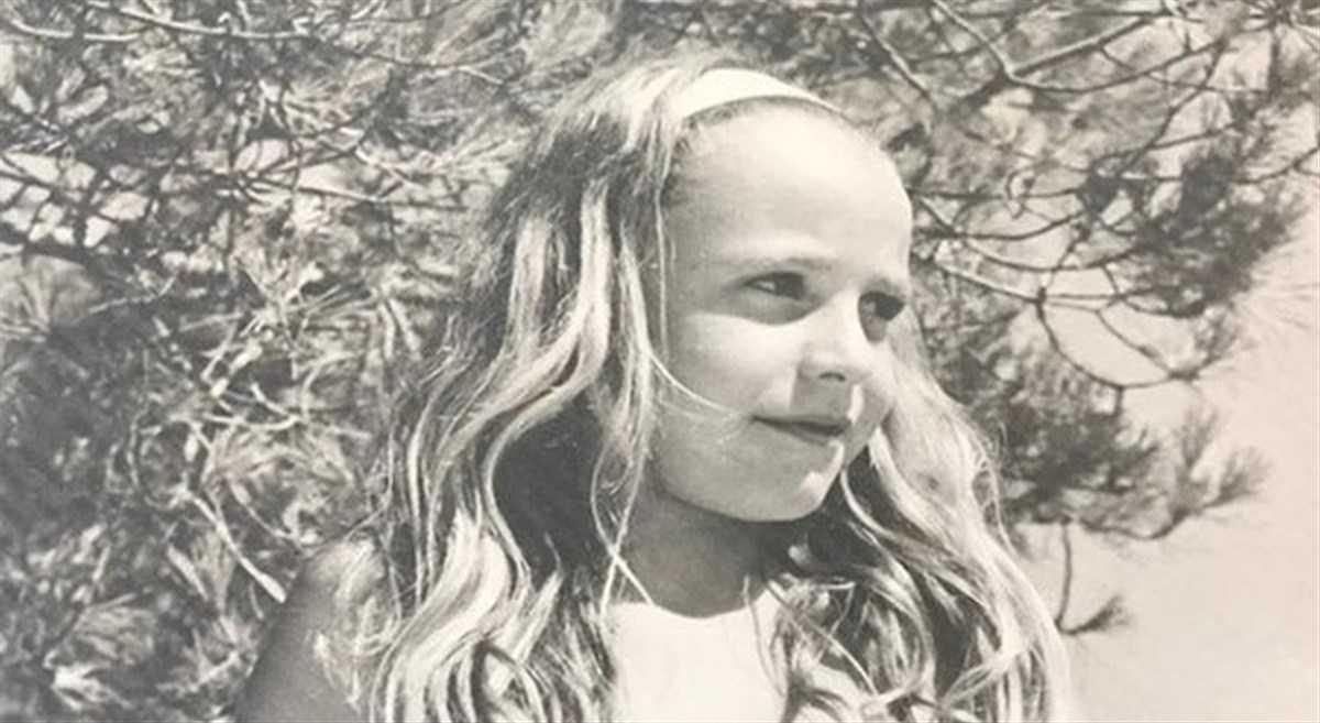 Antonella Clerici da piccola