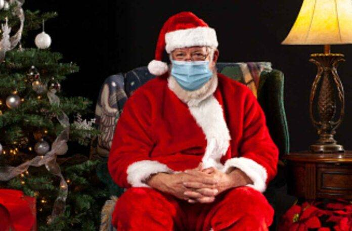 Babbo Natale con mascherina