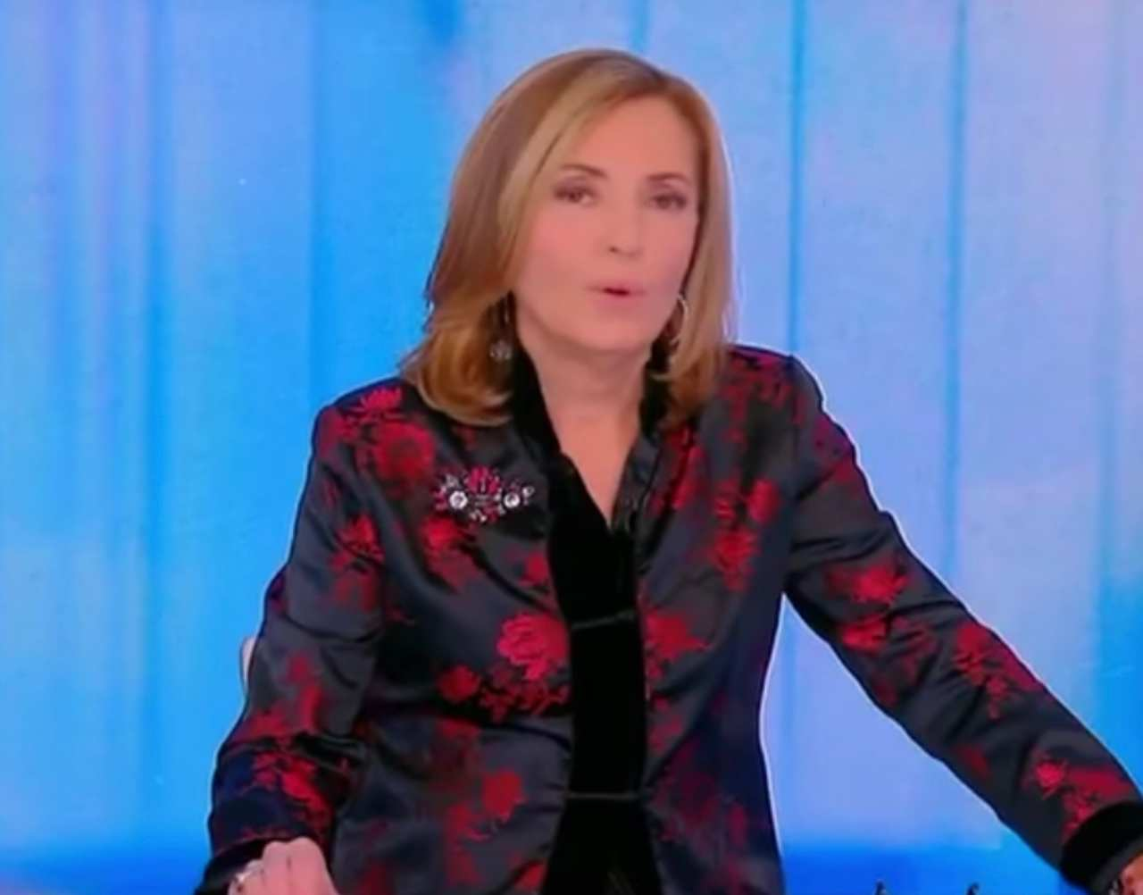 Barbara Palombelli Sorride Alle Parole In Tv Del Marito
