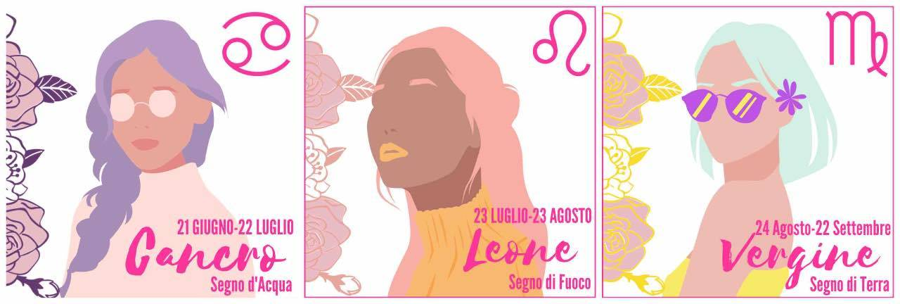 Cancro, Leone, Vergine