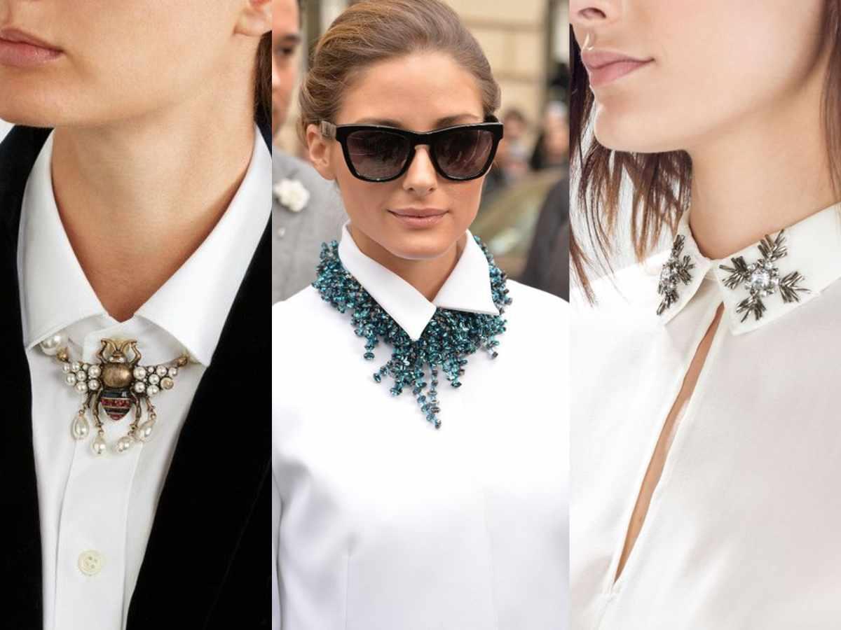 camicia bianca gioielli