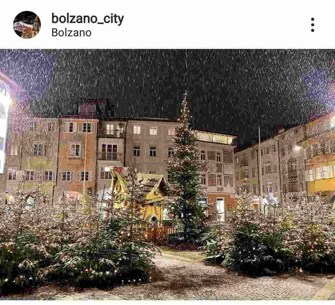 città di bolzano con la neve Instagram