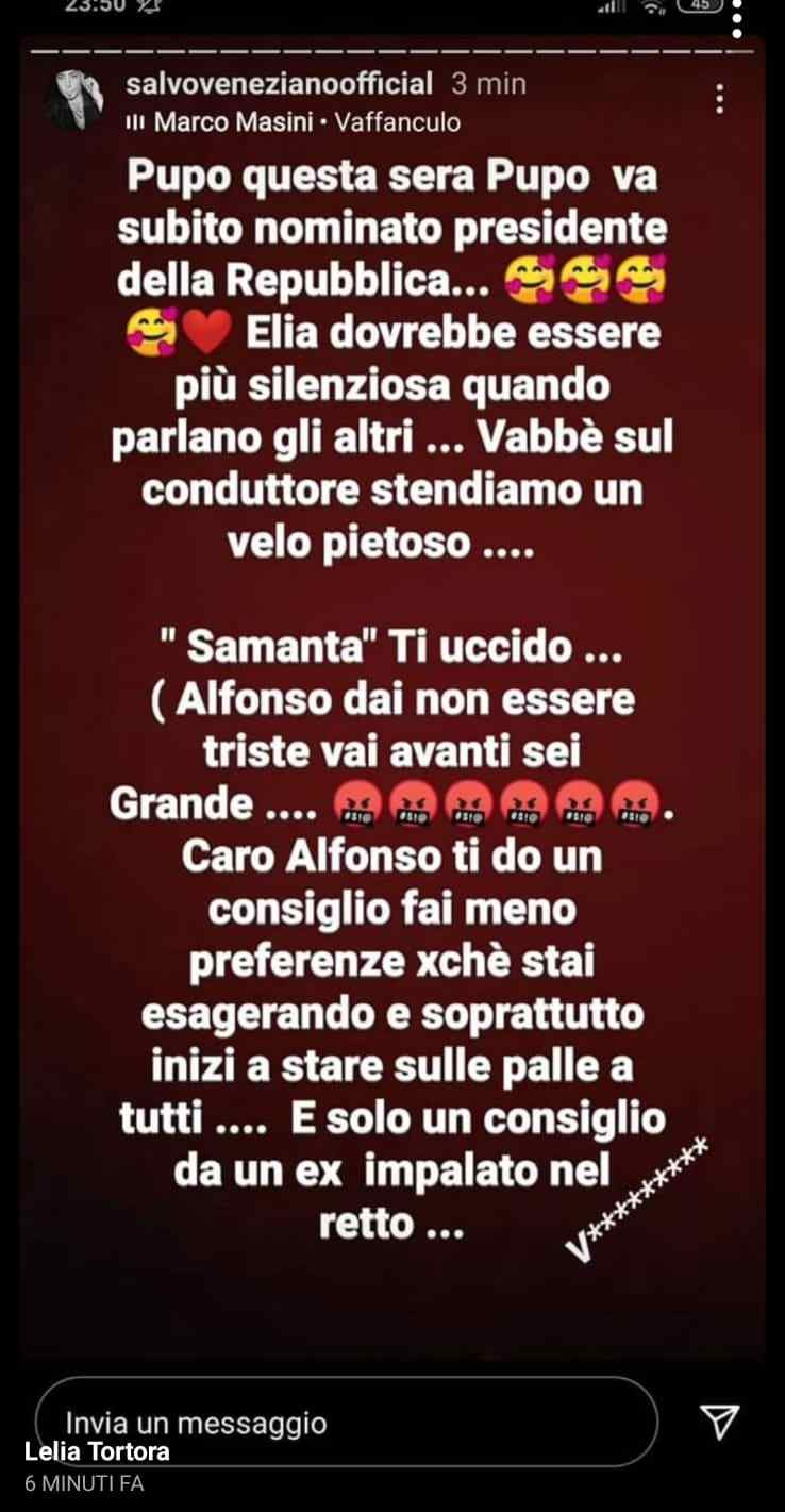 Instagram stories di Salvo