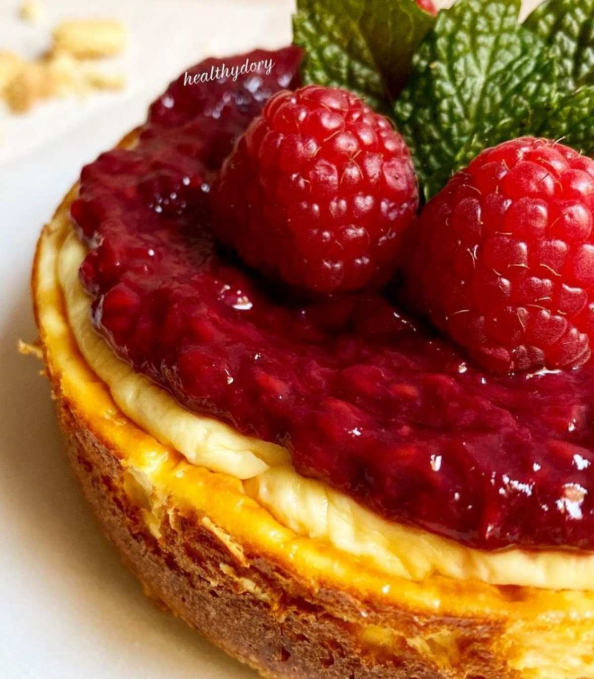 Cheesecake senza zuccheri fragrante, light, da fare a casa