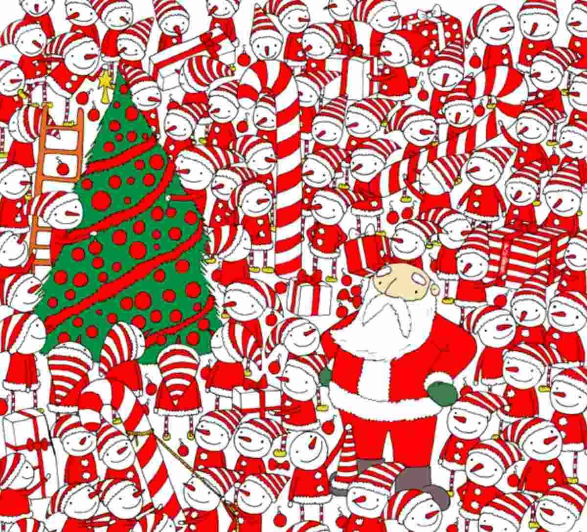 cercail cappello di Babbo Natale
