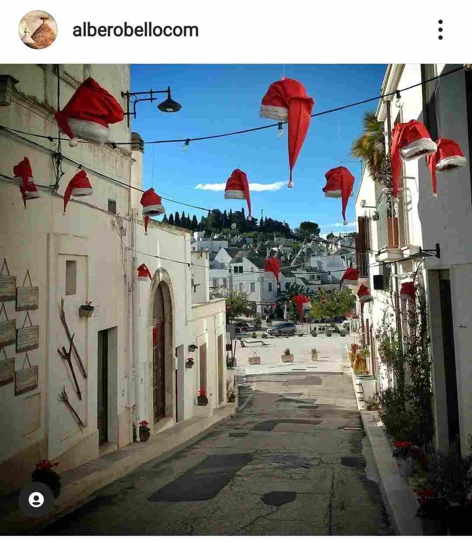 città di Alberobello decorazioni natalizie delle strade