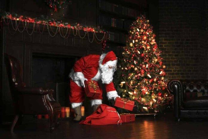 Babbo Natale che consegna i doni
