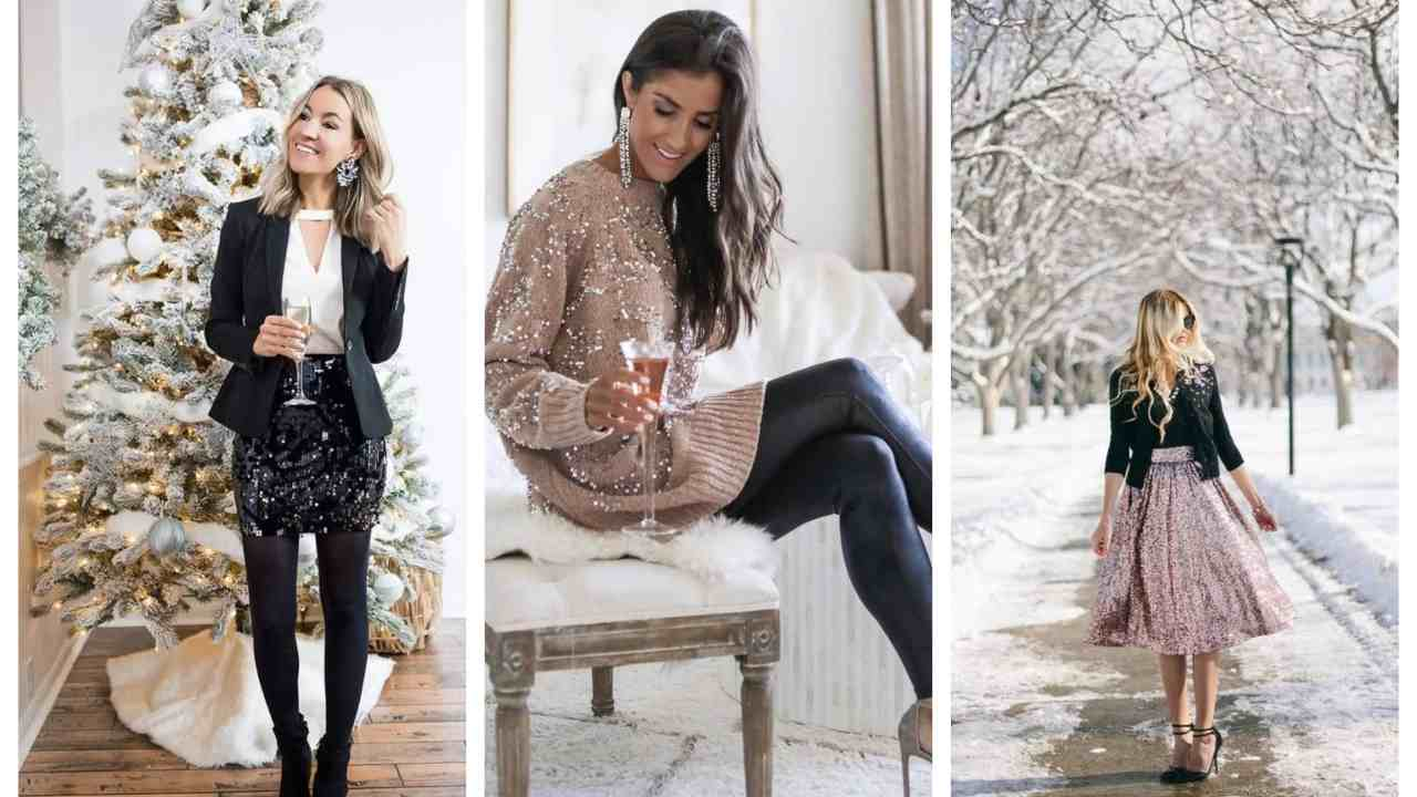 outfit natale glitter