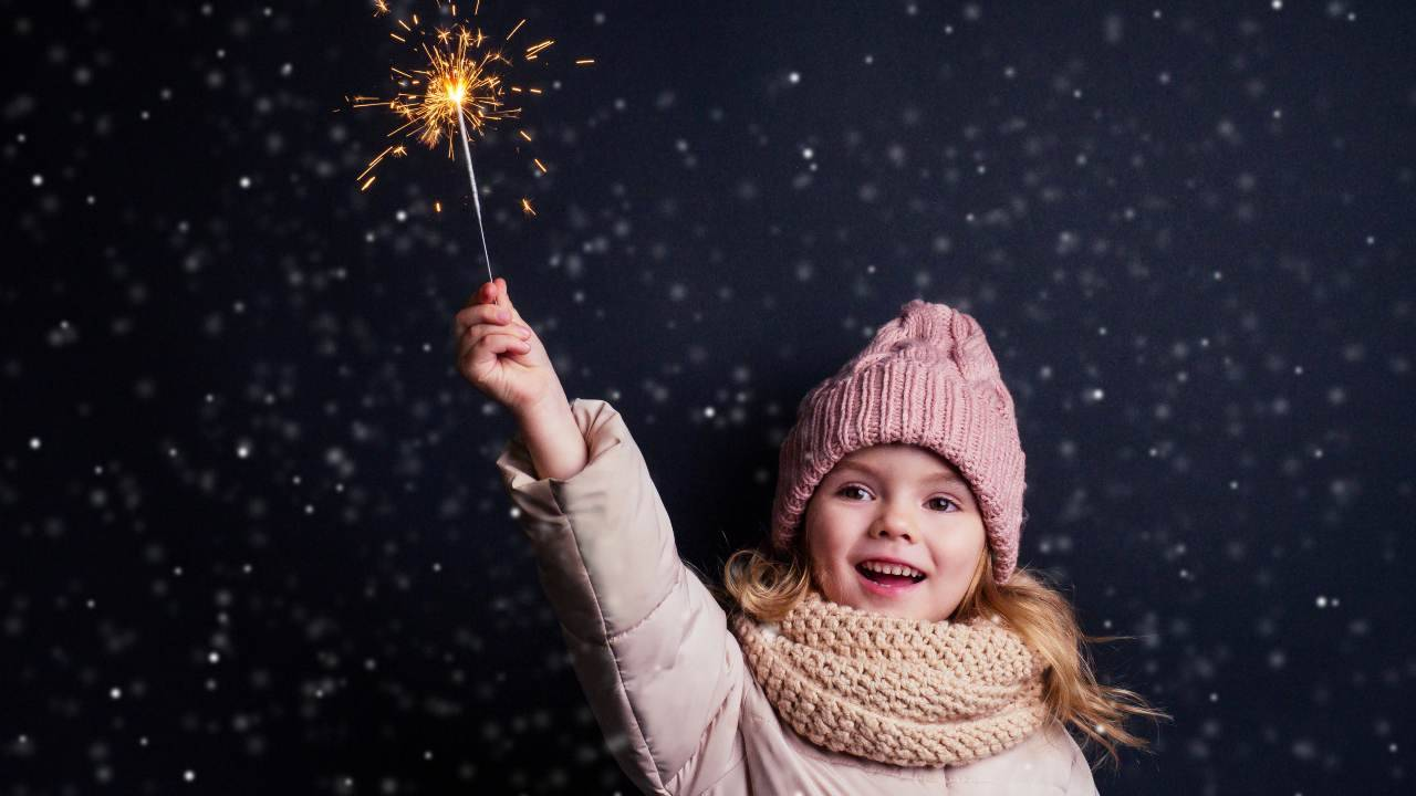 fuochi d'artificio bambini