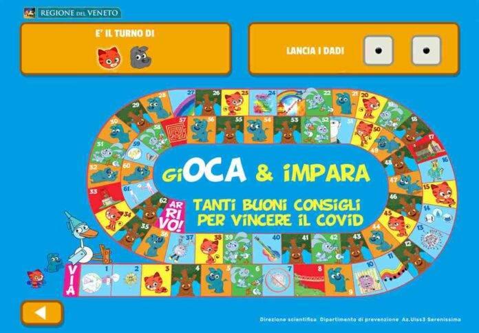 Dal Veneto arriva una nuova versione del Gioco dell'Oca contro il Covid per i più piccoli