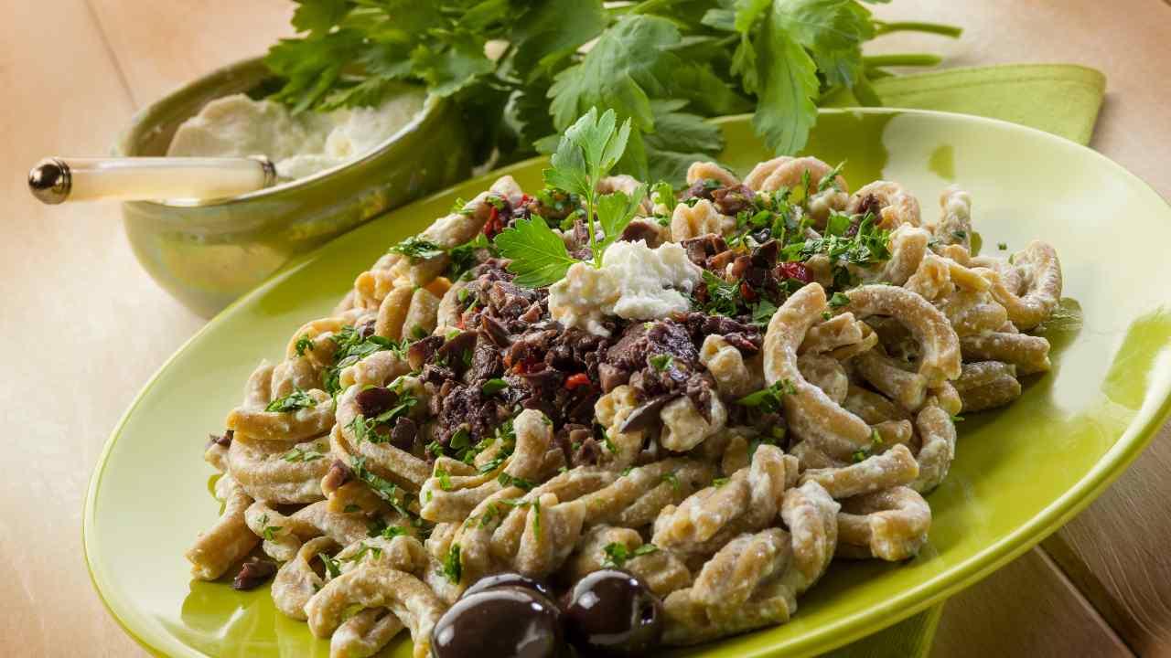 pasta ricotta olive
