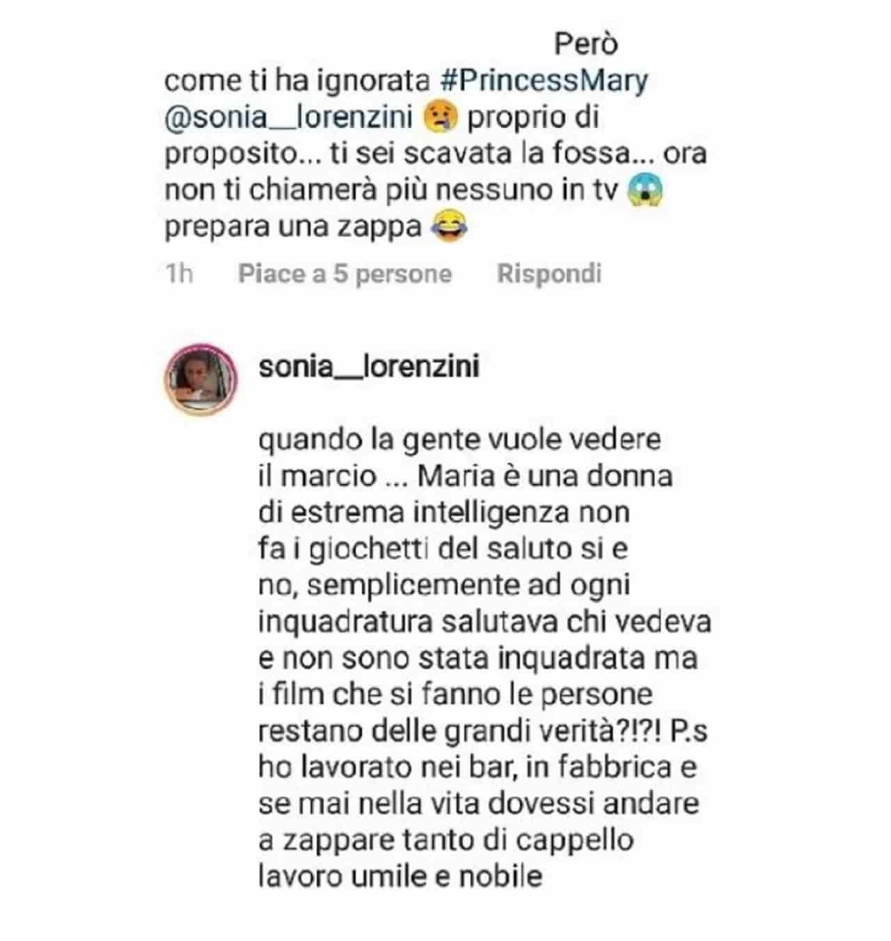 messaggi sonia lorenzini