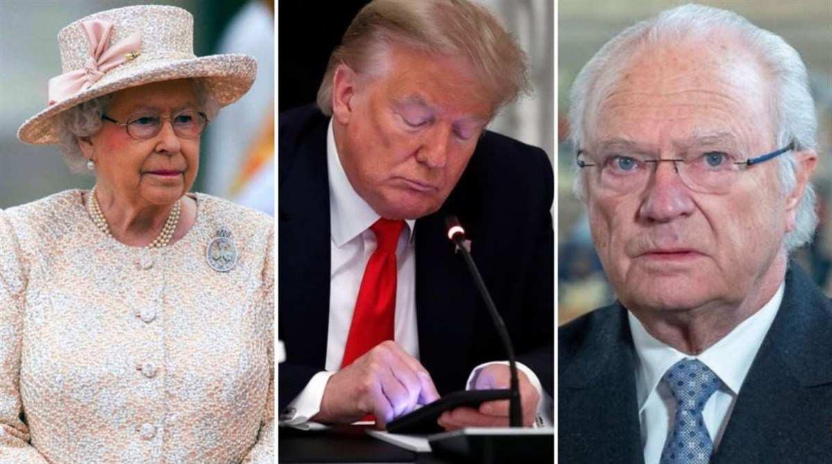Trump Elisabetta II Re di Svezia