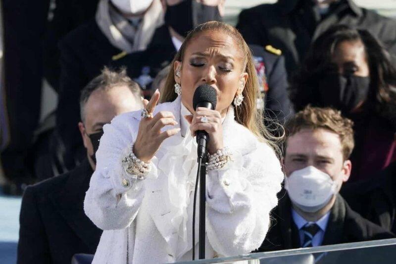 Jennifer Lopez, l'esibizione per salutare Joe Biden (Getty Images)