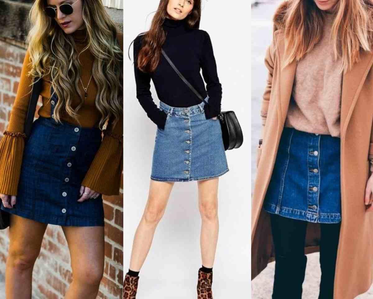 minogonna di jeans