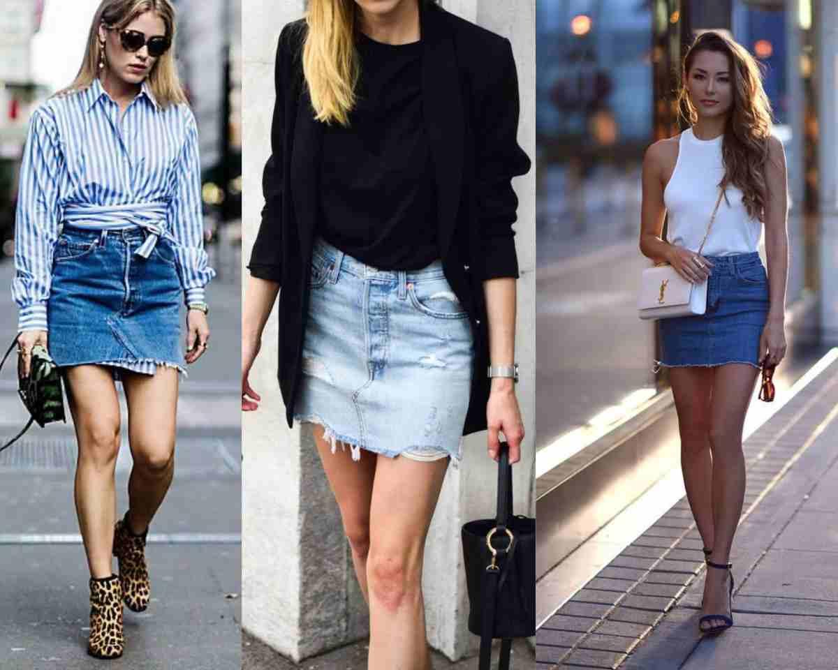 minigonna di jeans