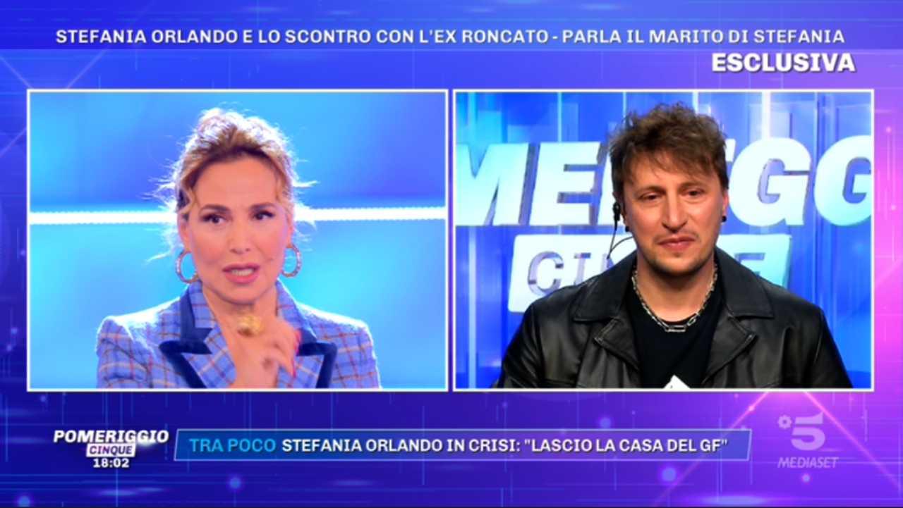 Barbara d'Urso e Simone Gianlorenzi