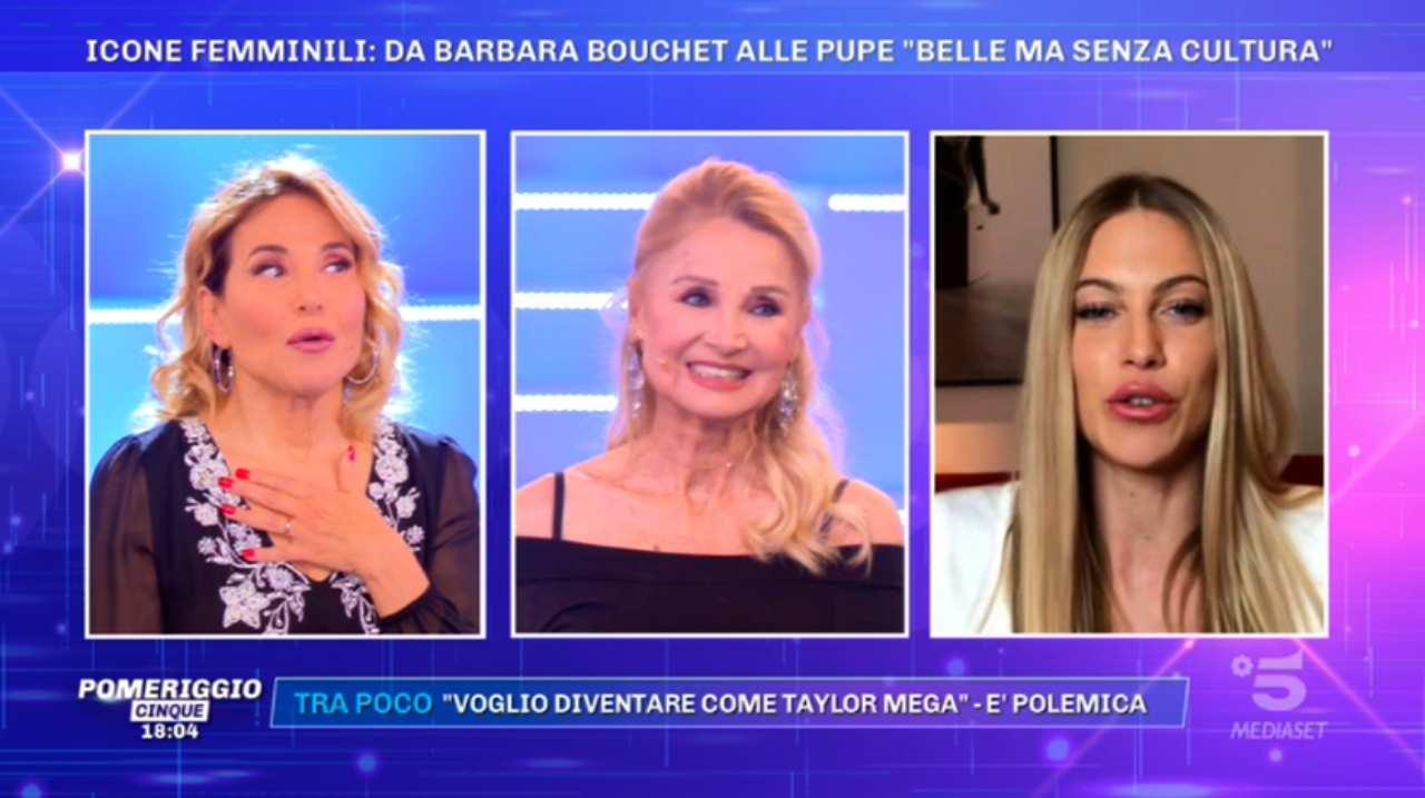 Barbara d'Urso, Barbara Bouchet e Taylor Mega