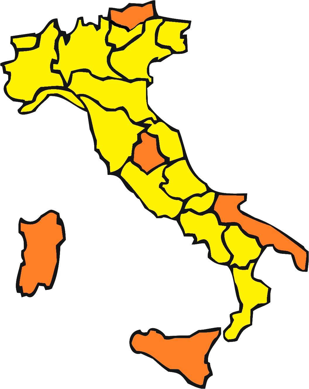 colori regioni 1 febbraio 2021