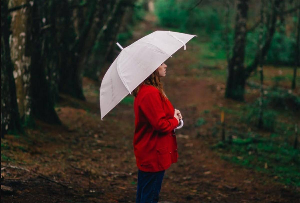 ragazza ombrello