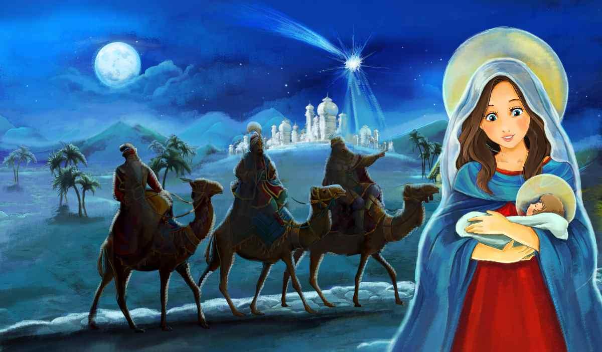 I re Magi, Maria e Gesù Bambino