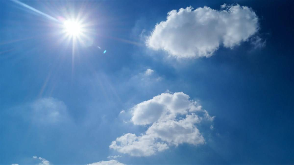 cielo sole nuvole