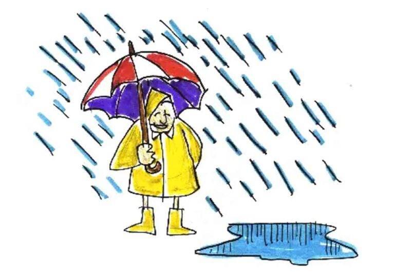 test uomo sotto la pioggia