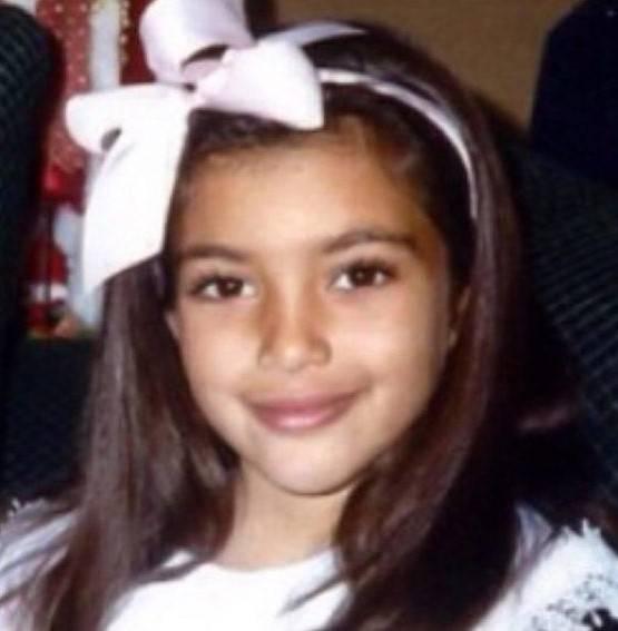 Kim Kardashian da piccola vip da piccoli