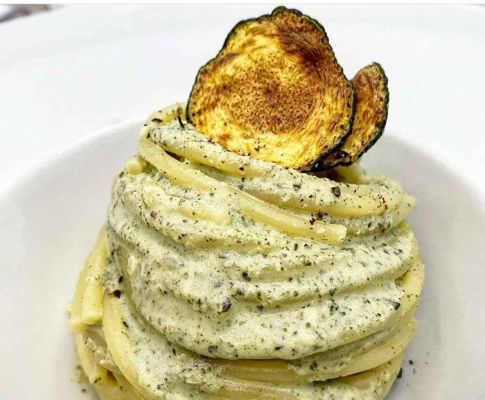 soaghetti crema di basilico