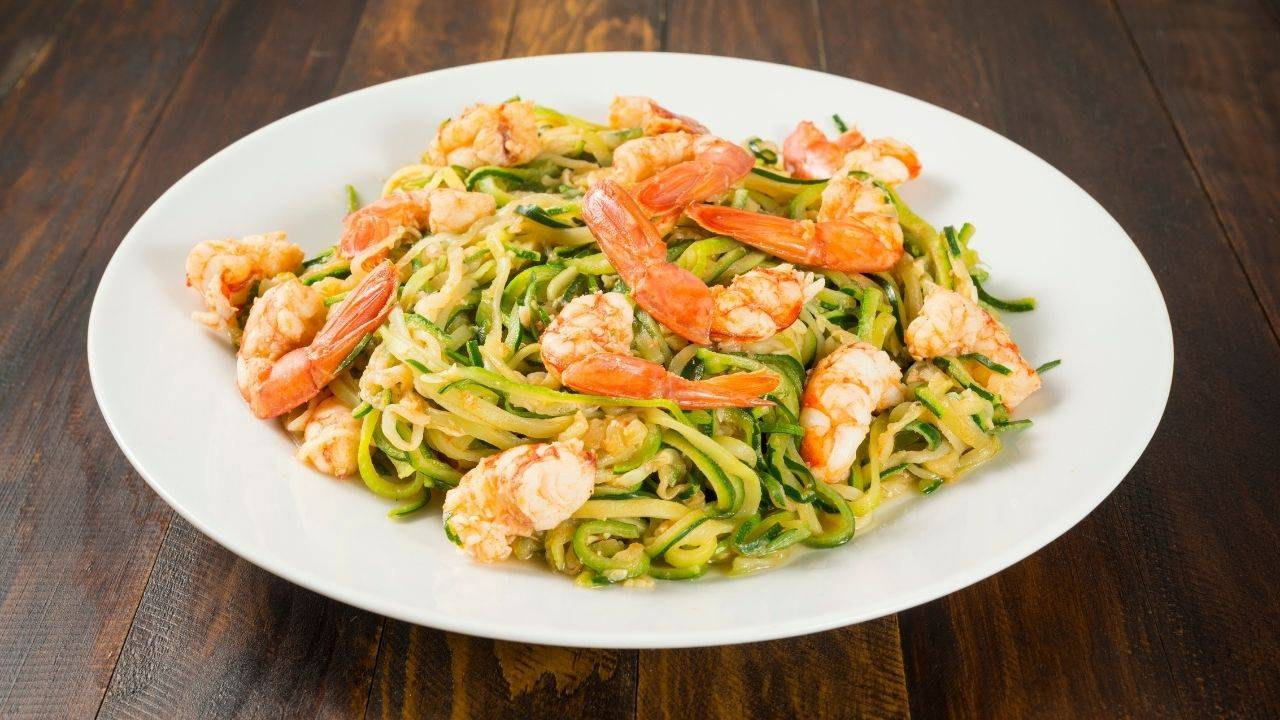 spaghetti gamberetti zucchine
