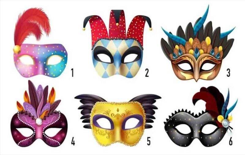 test maschera carnevale