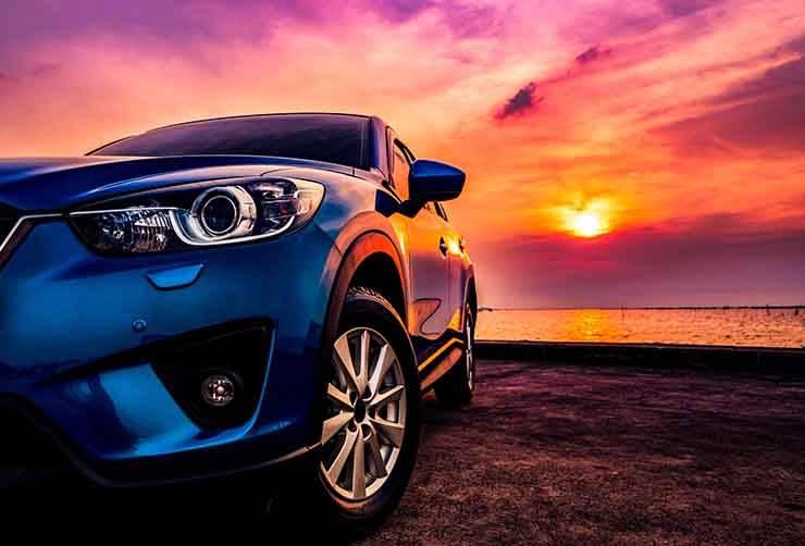 auto tramonto