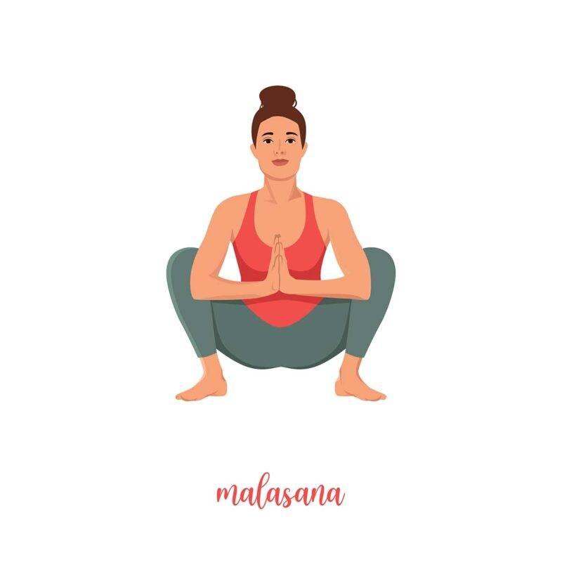 Yoga posizione ghirlanda