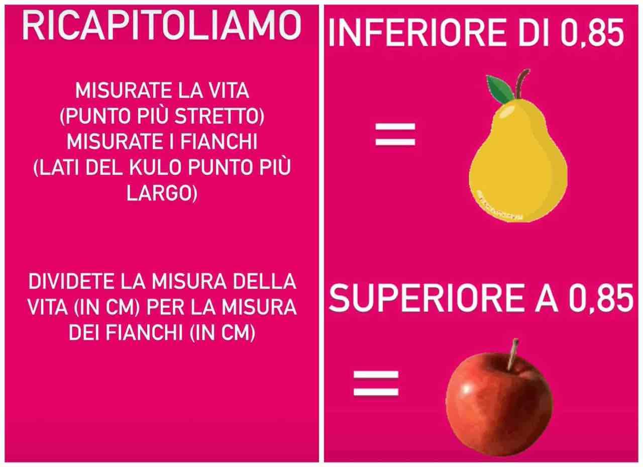 divisione fisico a mela o a pera