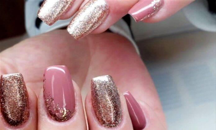 Glitter oro unghie