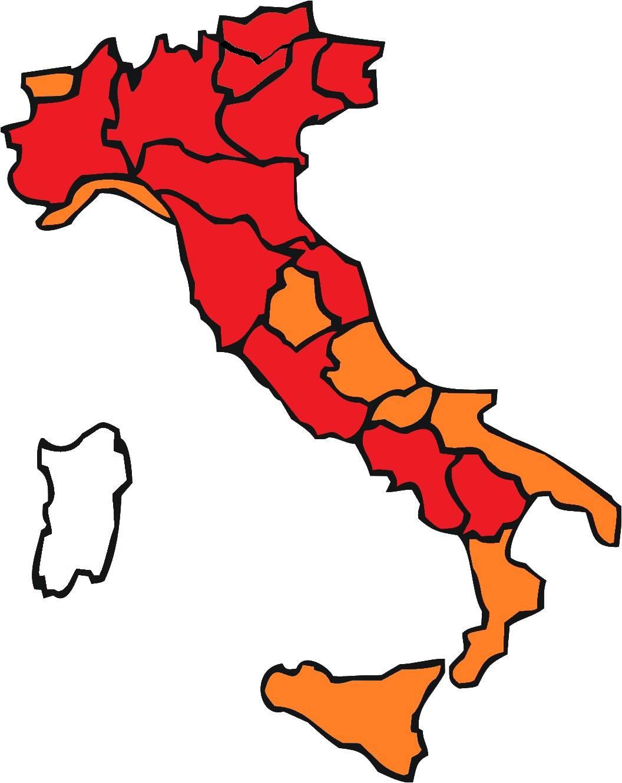 Italia dal 15 Marzo al 6 Aprile 2021