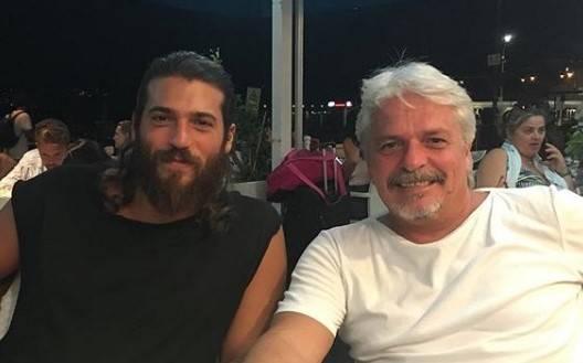 can yaman con il padre