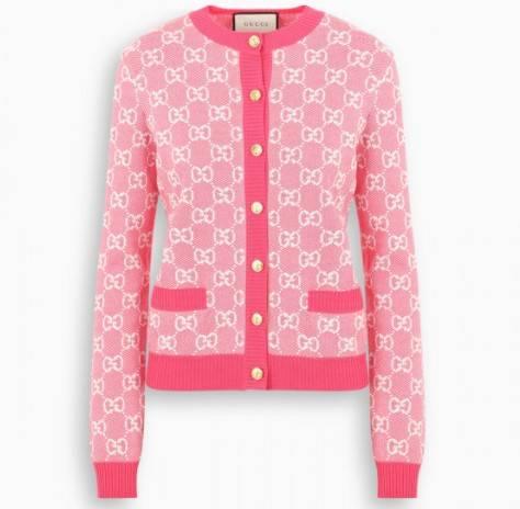 cardigan rosa gucci