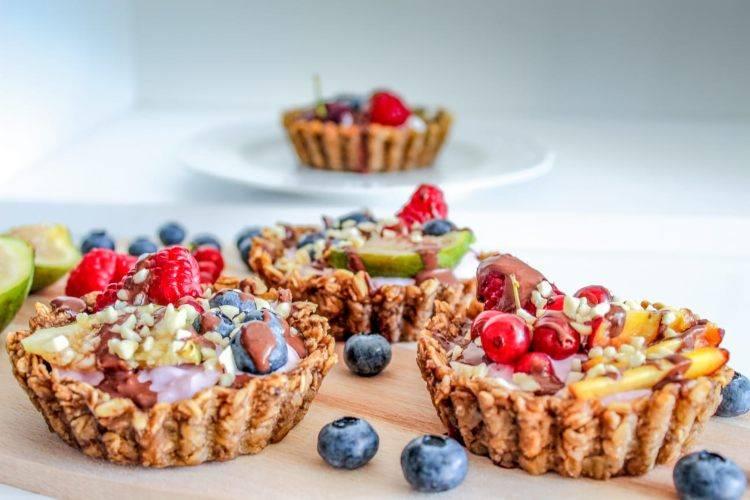 cestini di frutta con yogurt greco