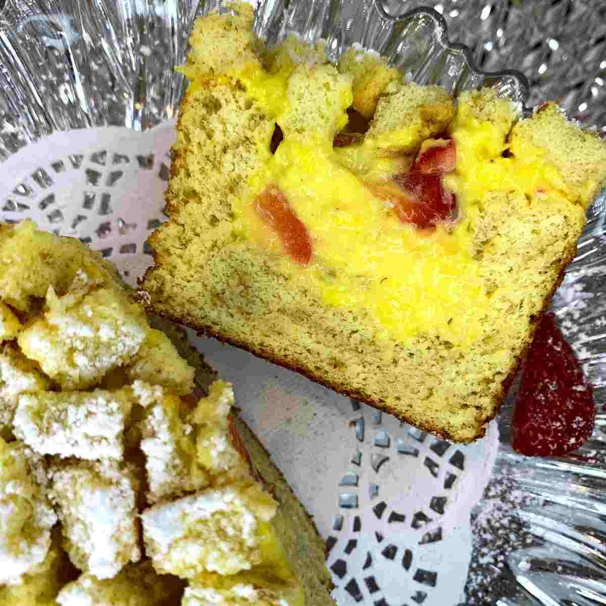 mimosa plumcake