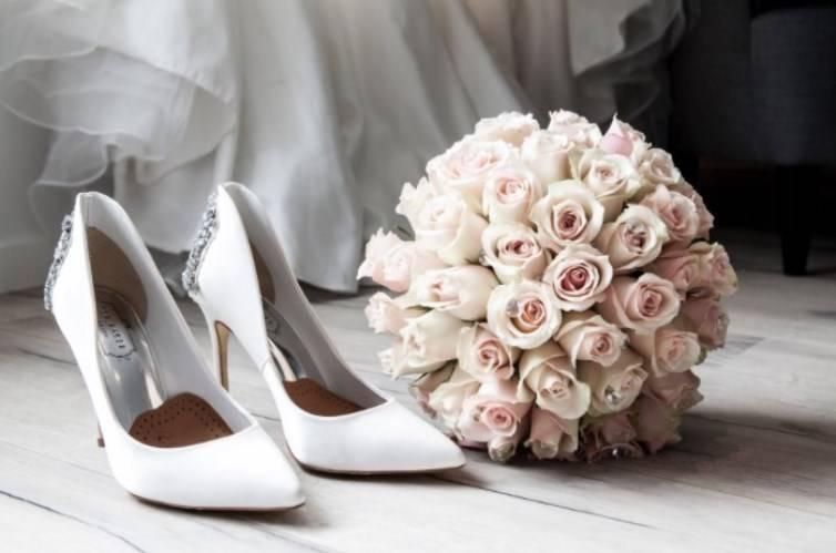 scarpe sposa bouquet