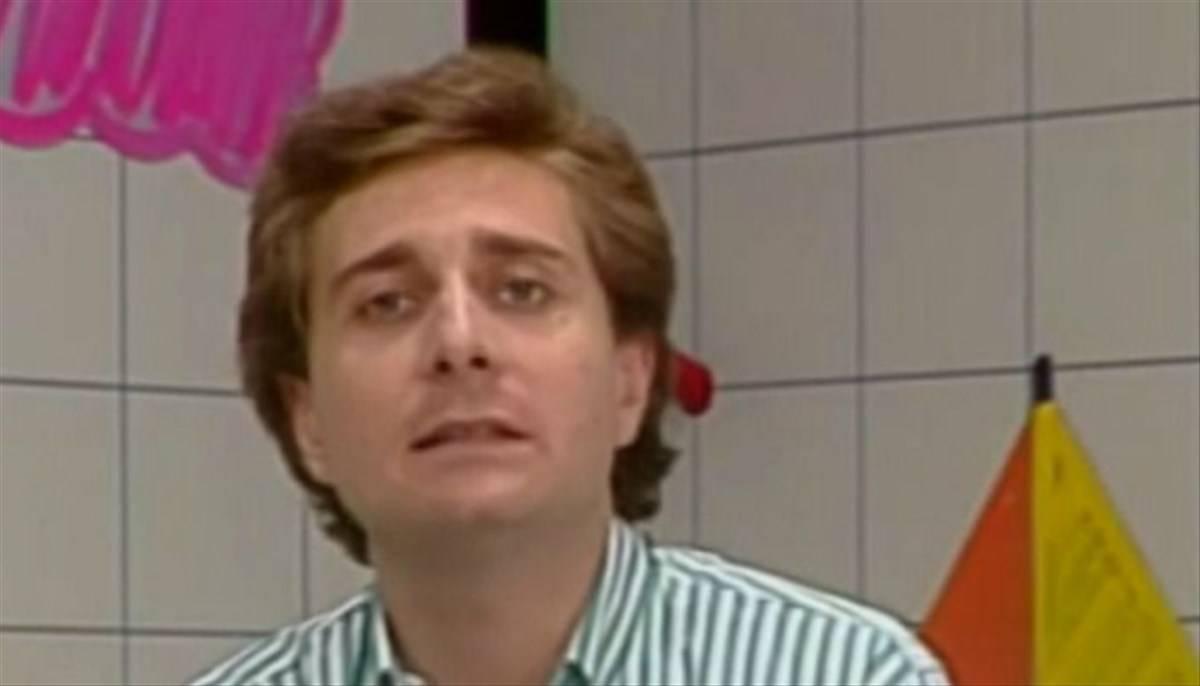 Paolo Bonolis giovane vip da piccoli