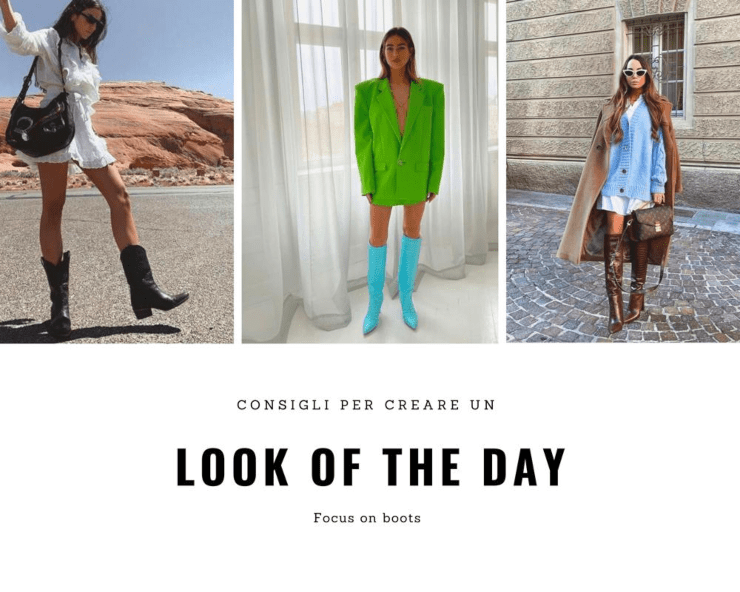 look of the day stivali