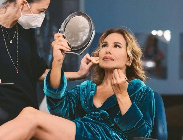 Barbara D'Urso makeup