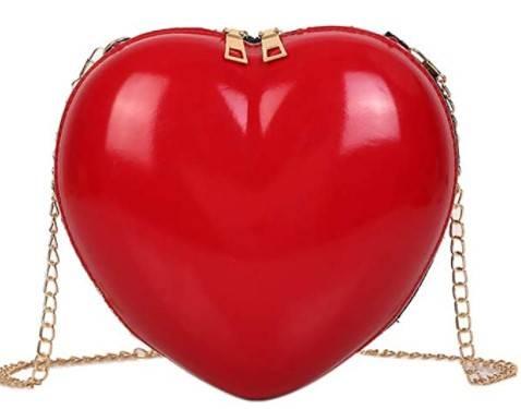 borsa rossa cuore amazon