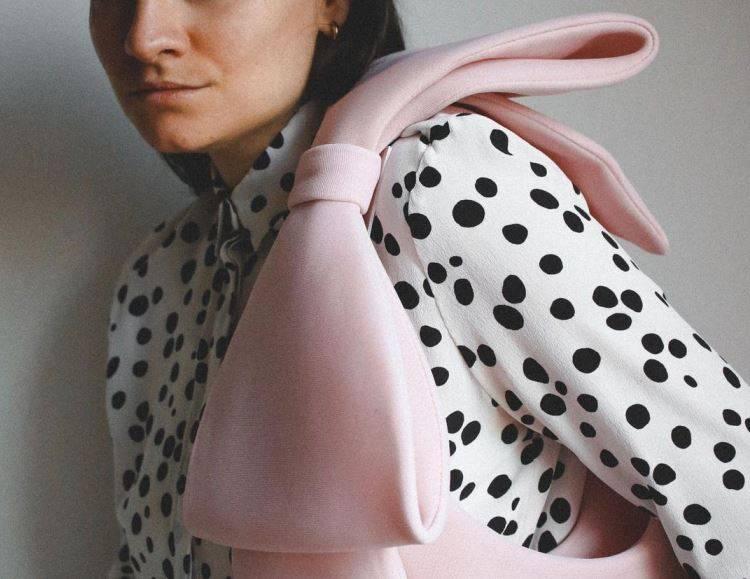 borsa rosa fiocco H&M flaviana boni
